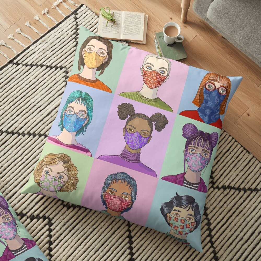 Face Mask Fashion Floor Pillow